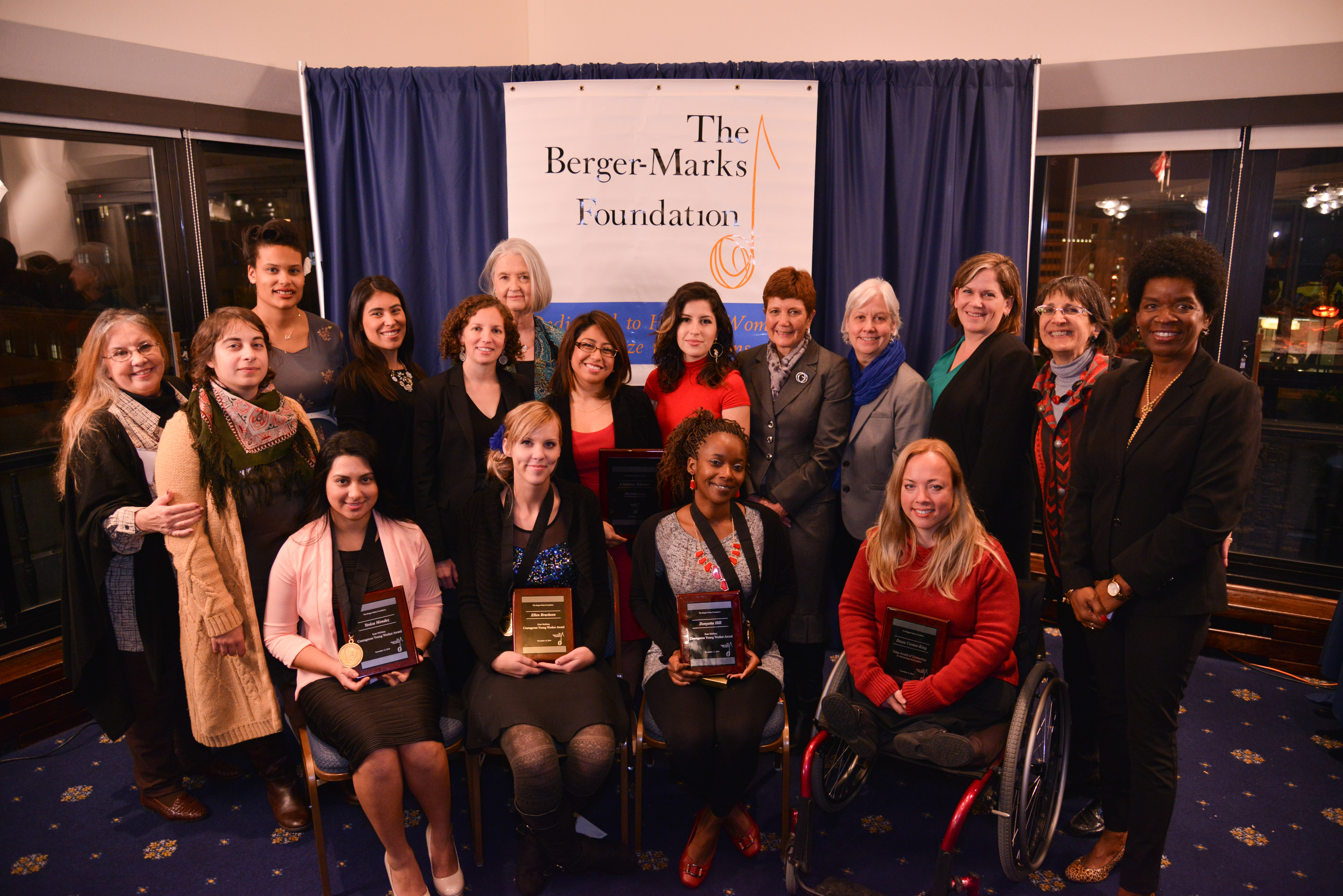 Edna and Kate Mullany award winners, judges, and finalists and the Berger-Marks Foundation trustees.