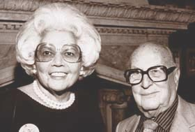 Edna Berger and Gerald Marks